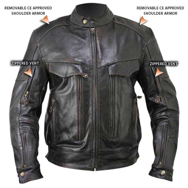 Armored leather jackets