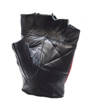 Rebel Flag Fingerless Leather Motorcycle Gloves