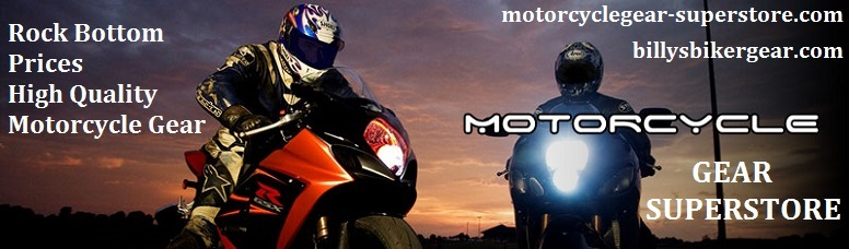 Motorcycle Gear Superstore Home Page Logo Image