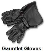 biker gauntlet gloves