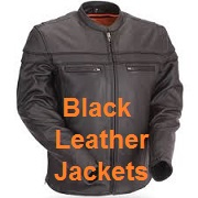 black leather motorcycle jackets