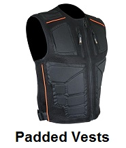 padded motorcycle vests