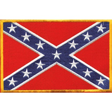 Confederate Flag Motorcycle Jacket Patch