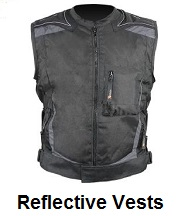reflective motorcycle vests