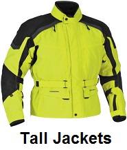 tall motorcycle jackets