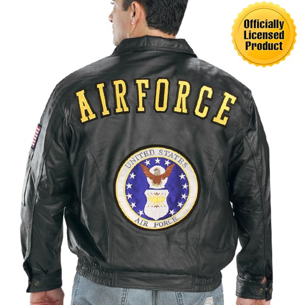 Officially Licensed U.S. Air Force Leather Bomber Jacket