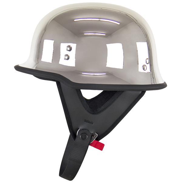 Motorcycle Helmets Dot >> Dot German Style Chrome Half Motorcycle Helmet