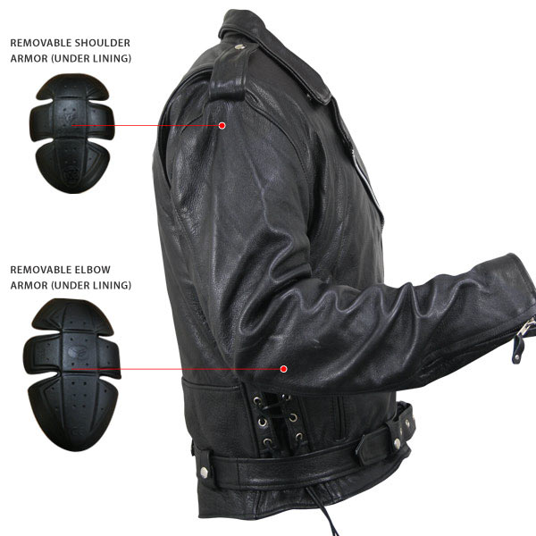 f54c8a7d4 Classic Motorcycle Jacket With Armor | MotoMania | Mobile Version