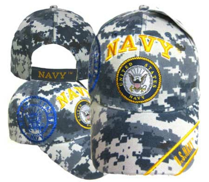 1ed0e6af5 Camo Us Navy Hat with Seal Cap
