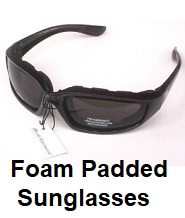 foam padded sunglasses