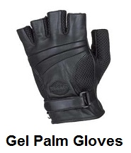 Gel Palm Leather Motorcycle Gloves