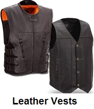 leather biker vests