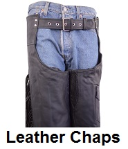 Biker Leather Motorcycle Chaps