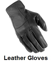 leather biker gloves