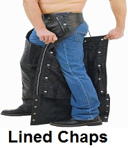 lined leather chaps
