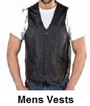 mens biker vests
