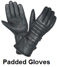 Gel Padded Leather Motorcycle Gloves