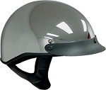 DOT Chrome Motorcycle Half Helmet