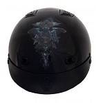 DOT Vented Dragon Skull Motorcycle Half Helmet