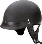 DOT Flat Black Motorcycle Half Helmet with Visor
