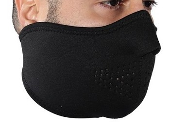 Black Neoprene Motorcycle Half Face Mask