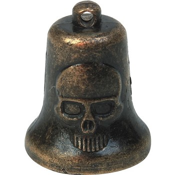 Bronze Skeleton Head Motorcycle Bell