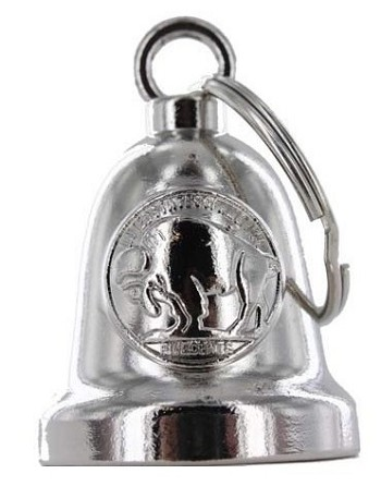 Buffalo Nickel Chrome Motorcycle Bell