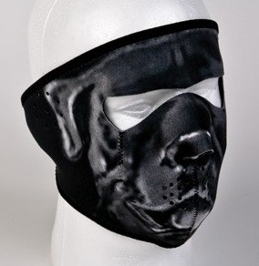 Neoprene Gray Bulldog Motorcycle Face Mask