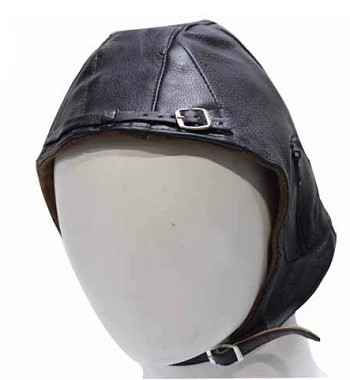 Insulated Leather Aviator Cap