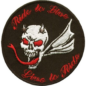 Small Ride to Live, Live to Ride Devil Patch