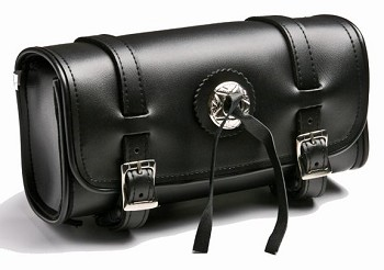 Plain Motorcycle Tool Bag With Front Concho