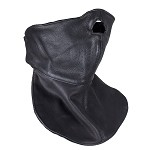 Leather Motorcycle Face Mask with Neck Warmer