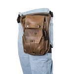 Brown Thigh Bag with Gun Pocket