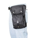 Black Textile Thigh Bag with Gun Pocket
