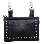 Womens Studded Leather Hip Bag Purse