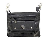 Womens Deck of Cards Leather Hip Bag Purse