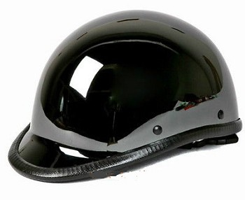 Snowmobile Helmets For Sale >> Black Chrome Jockey Shiny Novelty Motorcycle Helmet