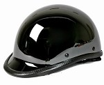 Black Chrome Jockey Shiny Novelty Motorcycle Helmet