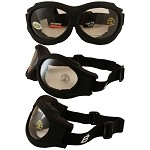 Fit Over Glasses Clear Biker Goggles