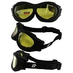 Fit Over Glasses Yellow Biker Goggles