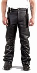 Mens Leather Pants with Side Zippers
