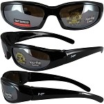 Motorcycle Sunglasses Foam Padded Mirror Lenses