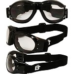 Sport Enthusiasts Biker Goggles Clear Lenses
