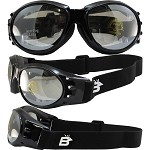 Sport Enthusiasts Biker Goggles Clear Mirror Lenses