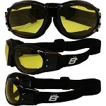 Sport Enthusiast Biker Goggles Yellow Lenses