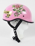 DOT Lady Rider Pink Polo Style Motorcycle Helmet