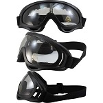 Flexible Unbreakable Vented Biker Goggles Clear Lens