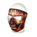 Flaming Skull Motorcycle Full Face Mask
