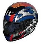 RZ-2 Blue Blade Full Face Racing Helmet