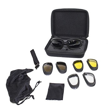 Motorcycle Goggles Set With Changeable Lenses